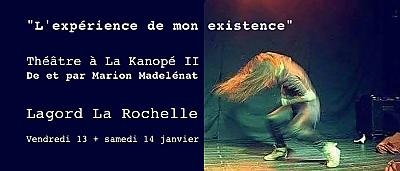 illustration de Seule en scène à La Rochelle - Lagord : Marion Madelénat est à La Kanopé II, vendredi 13 et samedi 14 janvier 2017