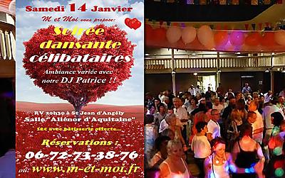 illustration de Célibataires de Charente-Maritime : 1ère soirée dansante 2017 à Saint Jean d'Angély, samedi 14 janvier !