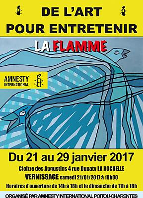 illustration de Droits humaines à La Rochelle : 28 artistes exposent avec Amnesty International du 21 au 29 janvier 2017