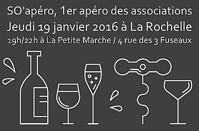 illustration de 1er apéro des associations à La Rochelle : jeudi 19 janvier 2017