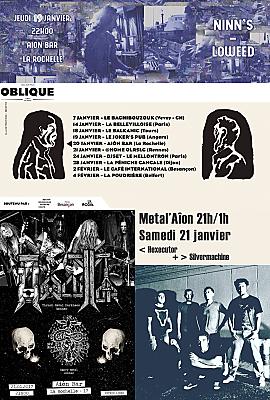 illustration de À l'affiche à La Rochelle : groove, house, progressive hop, metal à l'Aiôn les 19, 20 et 21 janvier 2017
