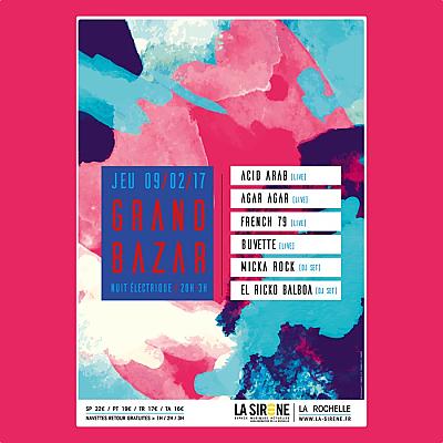 illustration de Nuit électrique à La Rochelle : Acid Arab, Agar Agar, French 79, Buvette et Dj's sets à La Sirène, jeudi 9 février 2017