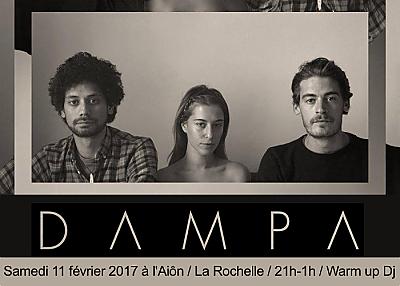 illustration de Electro trip-hop à La Rochelle : Dampa en concert à l'Aiôn, samedi 11 février 2017