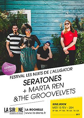 illustration de Rock'n'soul à La Rochelle : Seratones et Marta Ren & The Groovelvets à la Sirène, mercredi 15 février 2017