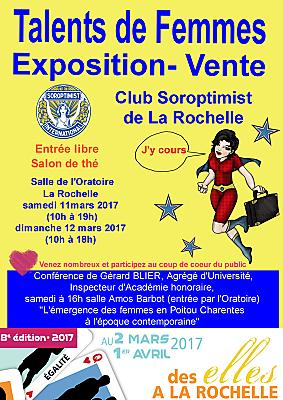 illustration de Talents de femmes : salon artistique & exposition-vente à La Rochelle, samedi 11 et dimanche 12 mars 2017