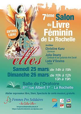 illustration de Littérature à La Rochelle : 7e Salon du livre féminin, samedi 25 et dimanche 26 mars 2017