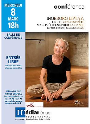 illustration de Autour de la danse à La Rochelle : conférence sur la chorégraphe  Ingeborg Liptay, mercredi 8 mars 2017 à 18h