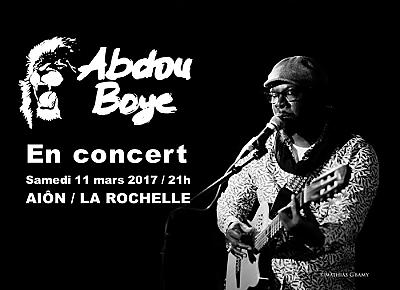 illustration de World music à La Rochelle : Abdou Boye en concert à l'Aiôn, samedi 11 mars 2017