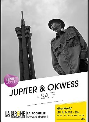 illustration de Afro & world à La Rochelle : Jupiter & Okwess et Sate à La Sirène, jeudi 16 mars 2017