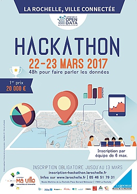 illustration de Open data La Rochelle : Hackathon open data les 22 et 23 mars 2017