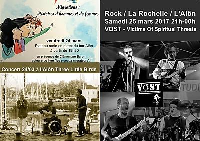illustration de La Rochelle-  Aiôn agenda : migrants, blues des Caraïbes et rock, vendredi 24 et samedi 25 mars 2017