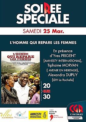 illustration de Des Elles à la Rochelle : L'homme qui répare les femmes, documentaire et débat, samedi 25 mars 2017
