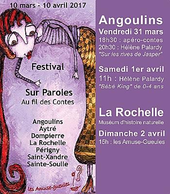 illustration de Festival au fil des contes : vendredi 31 mars et samedi 1er avril 2017 à Angoulins, dimanche 2/04 à La Rochelle