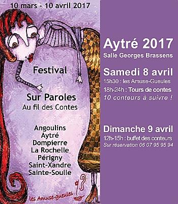 illustration de Agglo La Rochelle : au fil des contes à Aytré, samedi 8 et dimanche 9 avril 2017