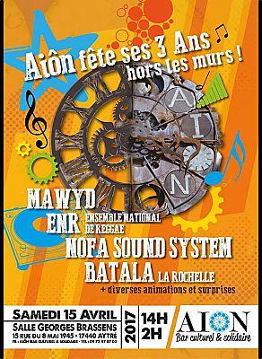 illustration de La Rochelle Agglo : Aiôn fête ses 3 ans hors les murs à Aytré, samedi 15 avril 2017 de 14h à 2h !