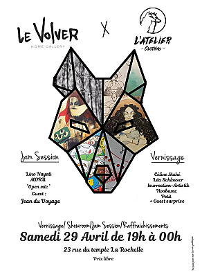 illustration de Vernissage à La Rochelle : le Volver, home-galerie invite plasticiens et musiciens, samedi 29 avril 2017