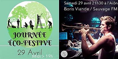 illustration de Éco-festivités, mix et live à La Rochelle : éco-jardinage ; soirée avec Boris Viande, samedi 29 avril 2017