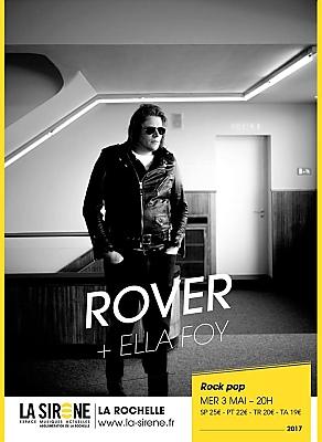 illustration de Pop rock à La Rochelle : Rover et en 1ère partie Ella Foy, mercredi 3 mai 2017