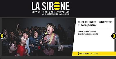 illustration de Garage rock à La Rochelle : Thee Oh Sees et Skeptics en 1ère partie, jeudi 11 mai 2017