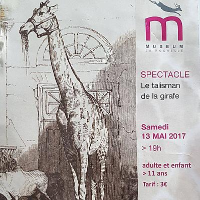 illustration de Le Talisman de la girafe à La Rochelle : avant-première au Muséum d'histoire naturelle, samedi 13 mai 2017