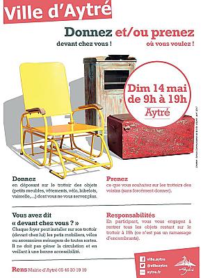 illustration de Agglo La Rochelle : journée de gratuité - devant chez vous - à Aytré, dimanche 14 mai 2017