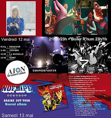 illustration de Musique(s) à l'Aiôn : Lili Ster, Jam-session, Équipe de Foot, Boiler Room et Noflipe les 11, 12 et 13 mai 2017 !