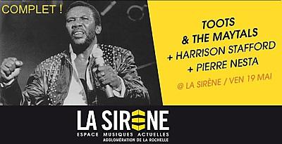 illustration de Reggae night à La Rochelle : le concert de Toot & The Maytals affiche complet à La Sirène, vendredi 19 mai 2017