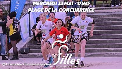 illustration de Sport féminin à La Rochelle : 3ème challenge Dé'Filles, plage de la Concurrence, mercredi 24 mai 2017