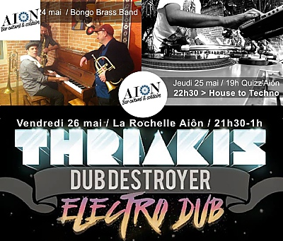 illustration de Musique(s) à La Rochelle : Bongo Brass Band, house to techno, Thriakis Dub Destroyer  du 24 au 26 mai 2017