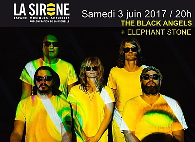 illustration de Austin psyché power à La Rochelle : The Black Angels et Elephant Stone, samedi 3 juin 2017