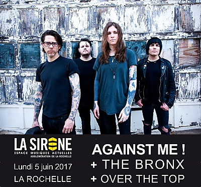 illustration de Punk rock à La Rochelle : Against Me ! The Bronx et Over The Top, lundi 5 juin 2017