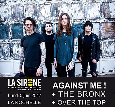 illustration de Punk rock à La Rochelle : Against Me ! The Bronx et Over The Top, lundi 5 juin 2017
