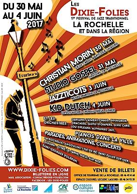 illustration de Jazz traditionnel La Rochelle Agglo : 17ème festival Dixie-Folies jusqu'au 4 juin 2017