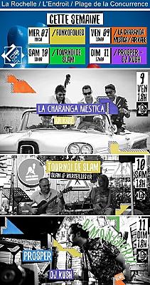 illustration de À L'Endroit La Rochelle : funk, musique cubaine, slam et dj sets les 7, 9, 10 et 11 juin 2017