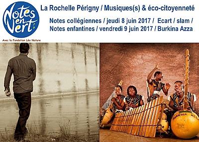 illustration de La Rochelle - Périgny : les Notes Collégiennes et Notes Enfantines du festival Notes en Vert, 8 et 9 juin 2017