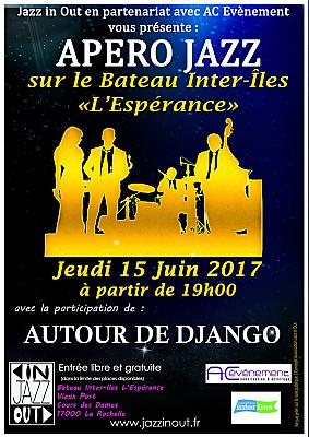 illustration de Apéro jazz à La Rochelle : autour de Django, jeudi 15 juin 2017