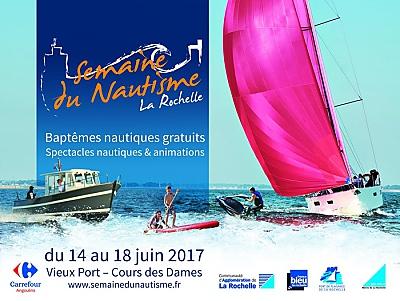 illustration de Embarquement à La Rochelle pour la 17e Semaine du nautisme du 14 au 18 juin 2017