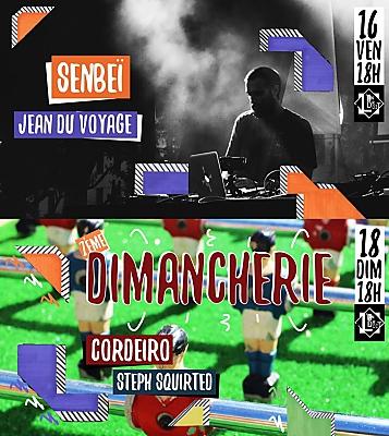 illustration de Électro et Dj sets à La Rochelle : Sanbeï & Jean du Voyage ;  Cordeiro et Steph Squirted à l'Endroit les 16 et 18 juin 2017