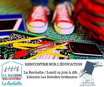 illustration de Avec la Maison des citoyens de la Rochelle : rencontre sur l'éducation, lundi 19 juin à 18h