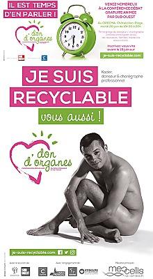 illustration de La Rochelle Agglomération : Je suis recyclable, une campagne en faveur du don d'organes et un débat mardi 20 juin 2017