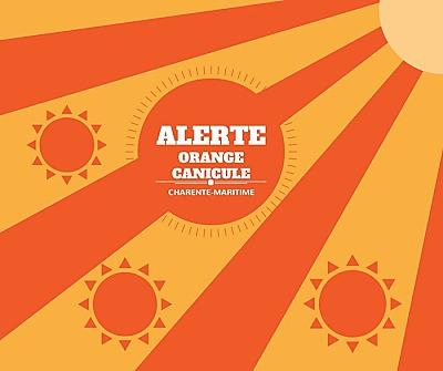 illustration de Charente-Maritime : alerte orange pour canicule à compter de dimanche 18 juin 16h