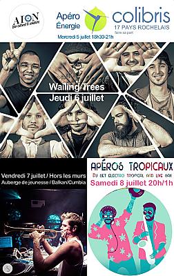 illustration de À l'Aiôn La Rochelle : reggae (06/07), Balkan & Cumbia hors les murs (07/07), Électro tropicale (08/07), juillet 2017