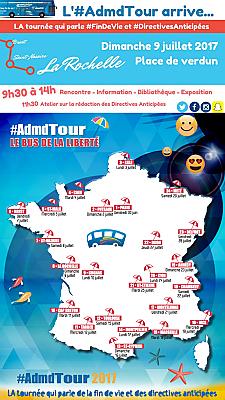 illustration de AdmdTour à La Rochelle : droits en fin de vie et directives anticipées, parlons-en dimanche 9 juillet 2017 çh
