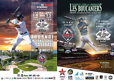 illustration de Baseball à La Rochelle : les Boucaniers accueillent le CBLE et le All-Star Game du 14 au 16 juillet 2017
