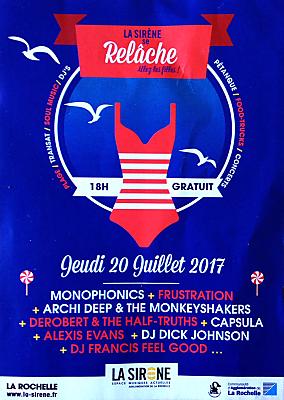 illustration de De Bordeaux à la Rochelle : festival Relâche à La Sirène, c'est gratuit, jeudi 20 juillet 18h-1h !
