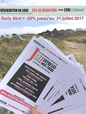 illustration de La Rochelle last call ! 20% de réduction pour le festival Jazz entre les deux Tours jusqu'au 31 juillet 2017 !