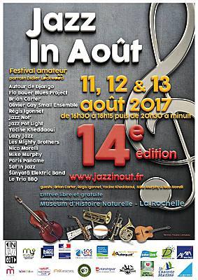 illustration de La Rochelle : Jazz in Août, festival dans le jardin du Muséum du vendredi 11 au dimanche 13 août 2017
