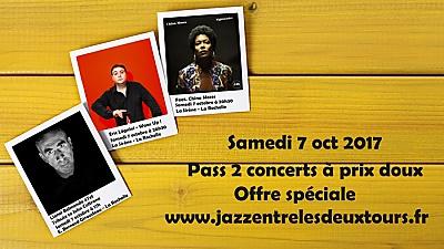 illustration de La Rochelle Saturday Jazz Pass ! Lionel Belmondo 4tet, Eric Légnini et Chiana Moses, samedi 7 octobre 2017