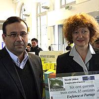 Photo  de © ubacto - Frédéric Chekroun, Commerce Rochelais et Brigitte Jourdain La Poste