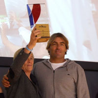 Photo  de © photo DR presse FFvoile - Claire Fountaine SRR ; Antoine Albeau prix Top Club 2013